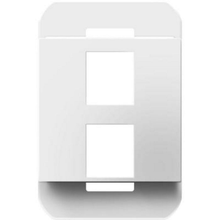 Adorne 2-Port Keystone Frame - White