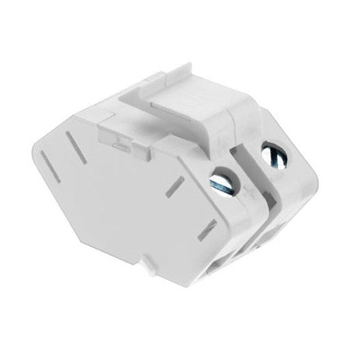 Adorne Single Keystone Speaker Connector - White