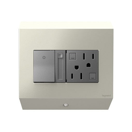 Adorne 450 Watt CFL/LED Control Box with Paddle Dimmer and 15A GFCI