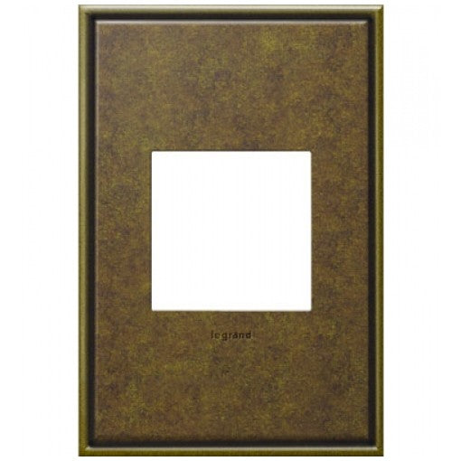 Adorne Aged Brass 1 Gang Wall Plate