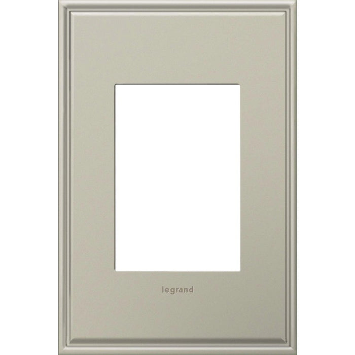 Adorne Antique Nickel 1 Gang 3 Module Wall Plate