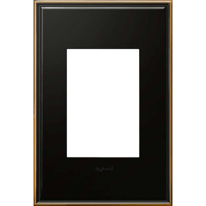 Adorne Brushed Brass 1 Gang 3 Module Wall Plate