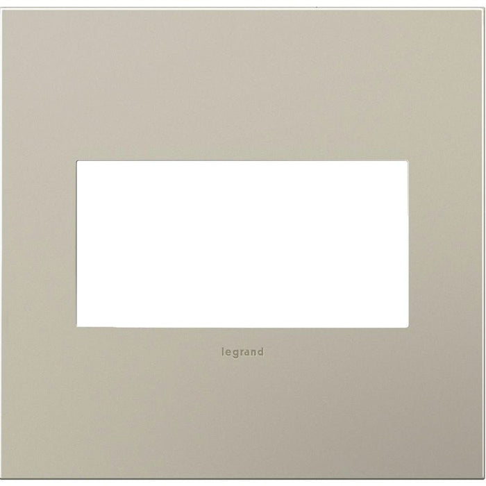Adorne Satin Nickel 2 Gang Wall Plate