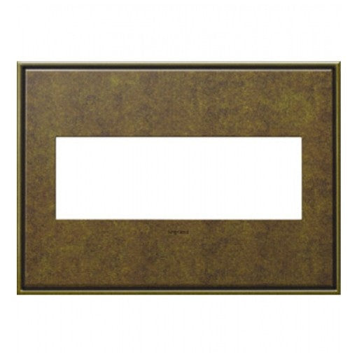 Adorne Aged Brass 3 Gang Wall Plate