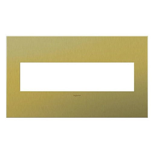 Adorne Brushed Brass 4 Gang Wall Plate