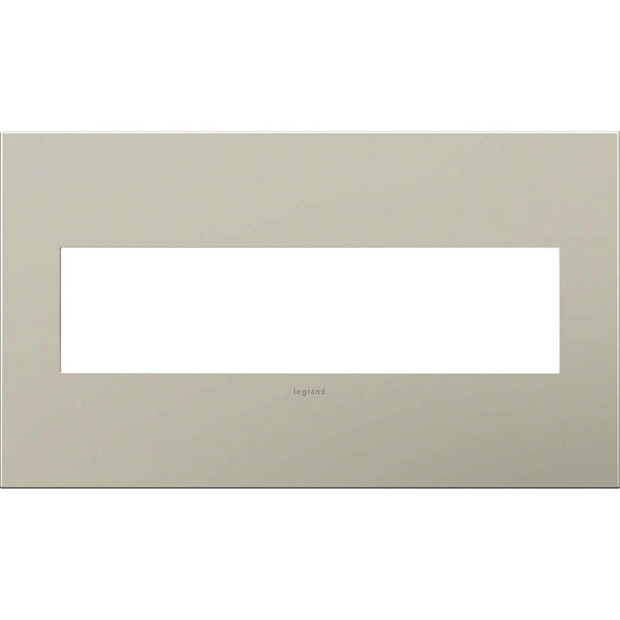 Adorne Satin Nickel 4 Gang Wall Plate
