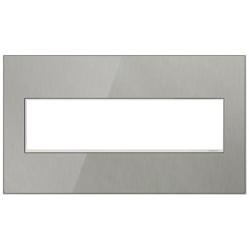 Adorne Brushed Stainless 4 Gang Wall Plate