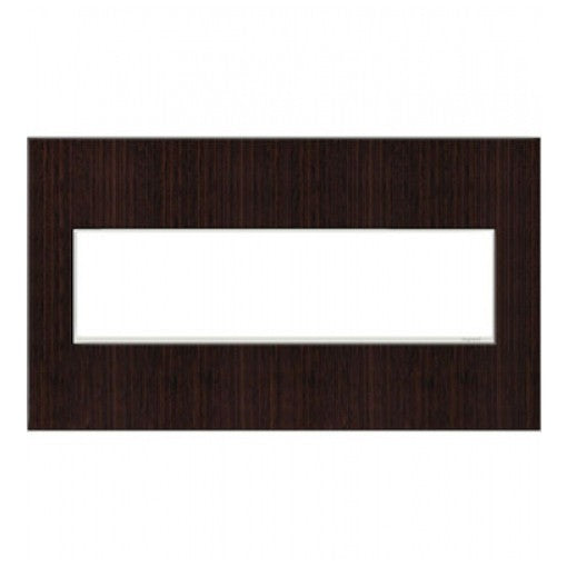 Adorne Wenge Wood 4 Gang Wall Plate