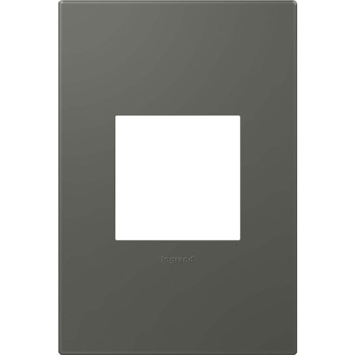 Adorne Soft Touch Moss Grey 1 Gang Wall Plate