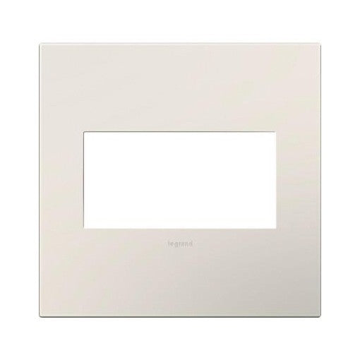 Adorne Satin Light Almond 2 Gang Wall Plate