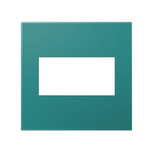 Adorne Turquoise Blue 2 Gang Wall Plate