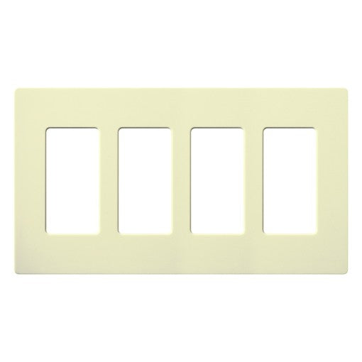 Lutron Claro Screwless Wallplate - 4-Gang - Almond