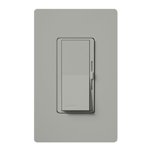 Lutron Diva Reverse-Phase ELV Dimmer for LED/INC/HAL/CFL - Single-Pole / 3-Way - Gray