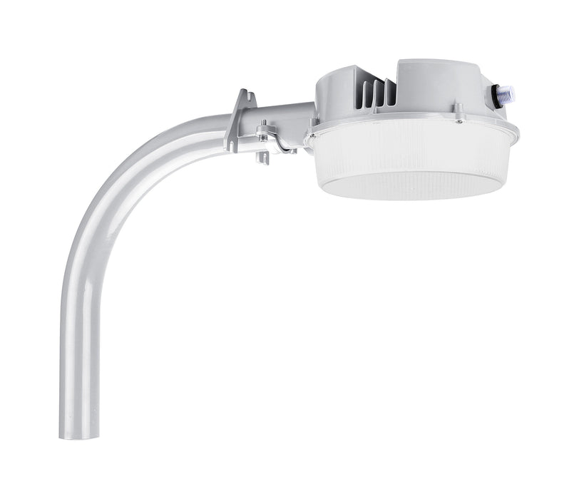 LED Dusk to Dawn Security Flood Light - 40W, 120-277Vac, Ra70 5000K, Silver Gray, Photocell