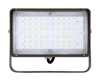 LED Flood Light 27W, 3600LM, 120-277V, 5000K, 7H*6V Very Wide Flood, Trunnion Mount, Dark Bronze, Must Order Photocell Seperately