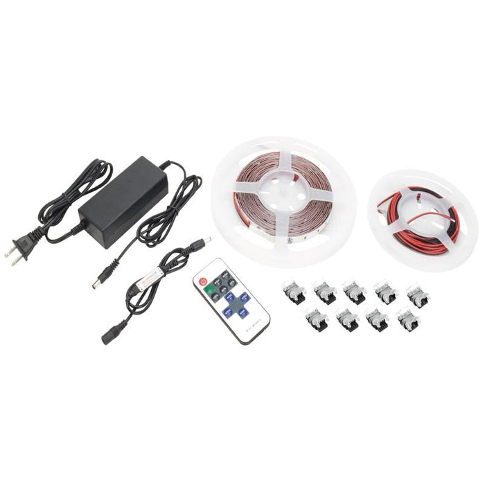 Trulux 16.4' High Output LED Tape Light Kit - Single Color - Unjacketed - 2700K 24V