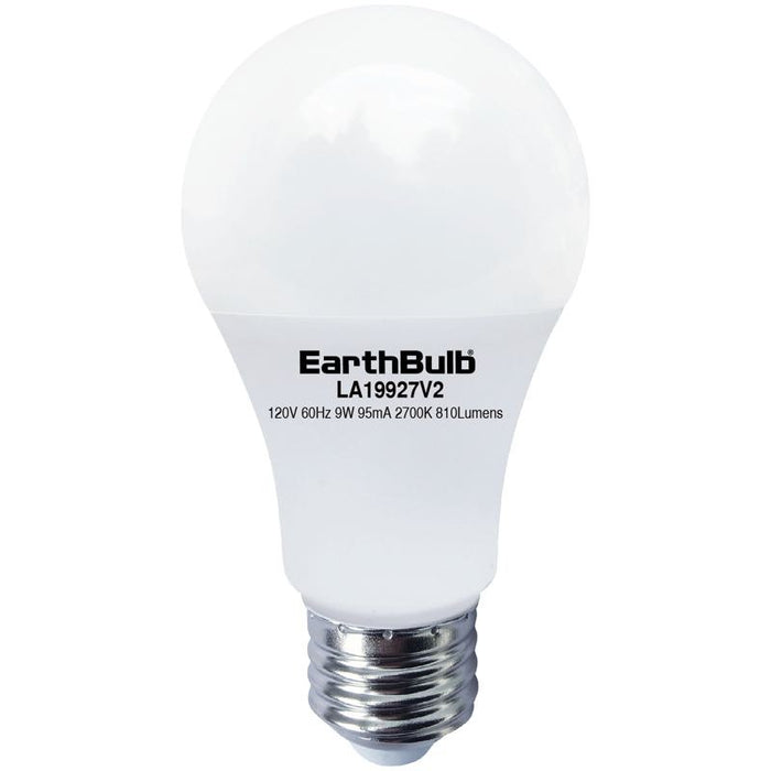 EarthTronics 9 Watt LED A19 - 4000K - 810 Lumens - 120V