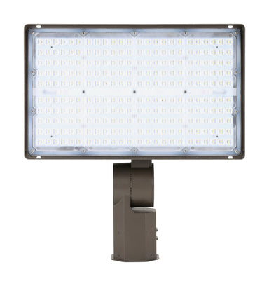 LED Flood Light 70W, 120-277Vac Dim, Ra70 5000K 7H6V, Slipfitter Mount Dark Bronze