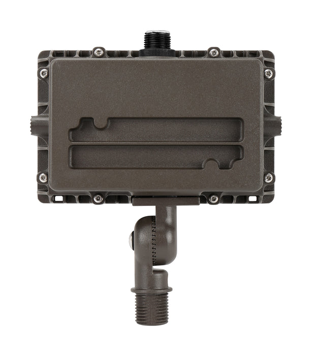 LED Flood Light 27W, 3600LM, 120-277V, 5000K, 7H*6V Very Wide Flood, Knuckle Mount, Dark Bronze, Includes Factory Installed Photocell PC-JL-120-277V