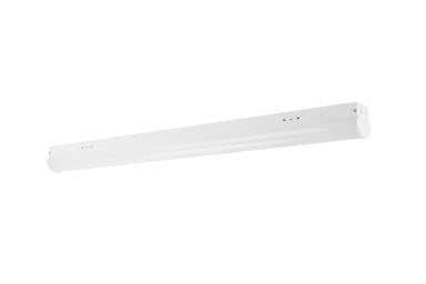 Linear LED Strip Light Fixture - 4FT, 23W, 3050LM, 120-277V DIM, Ra80, 5000K, Frosted Lens, White