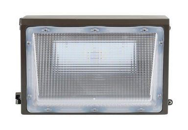 LED Wall Pack - 30W, 3400LM, 120-277V, 5000K, Clear Lens, Dark Bronze