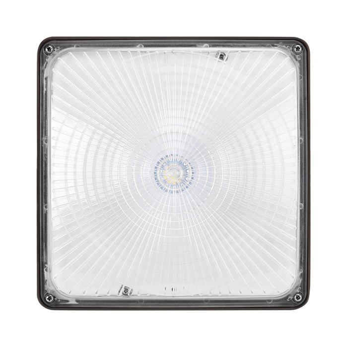Square LED Canopy 60W, 8000 Lumens, 120-277Vac Non-Dimmable, Ra70 5000K, Clear Lens, Dark Bronze