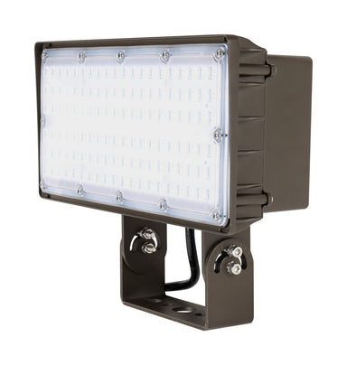 LED Flood Light 15W, 2000LM, 120-277V, 5000K, 7H*6V Very Wide Flood, Knuckle Mount, Dark Bronze, Must Order Photocell Seperately