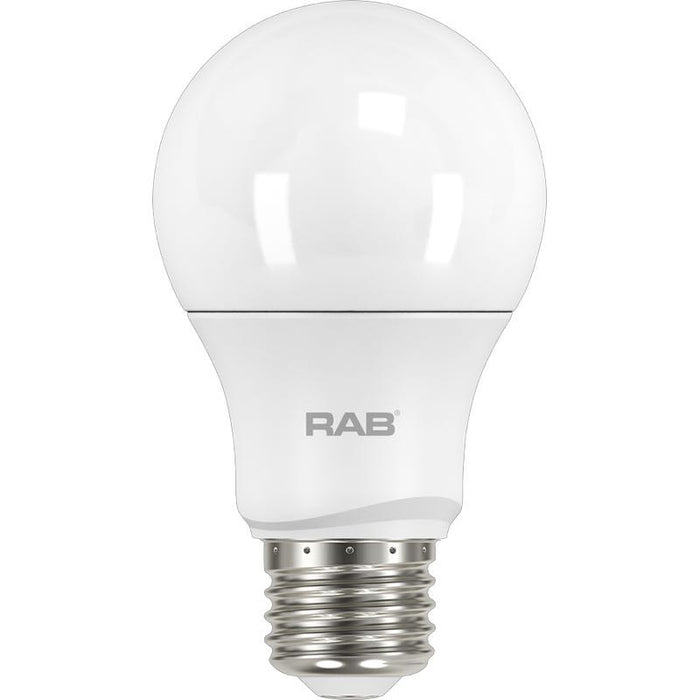 RAB 10 Watt Dimmable A19 LED Lamp - 2700K - 800 Lumens - 60W Replacement - 120V