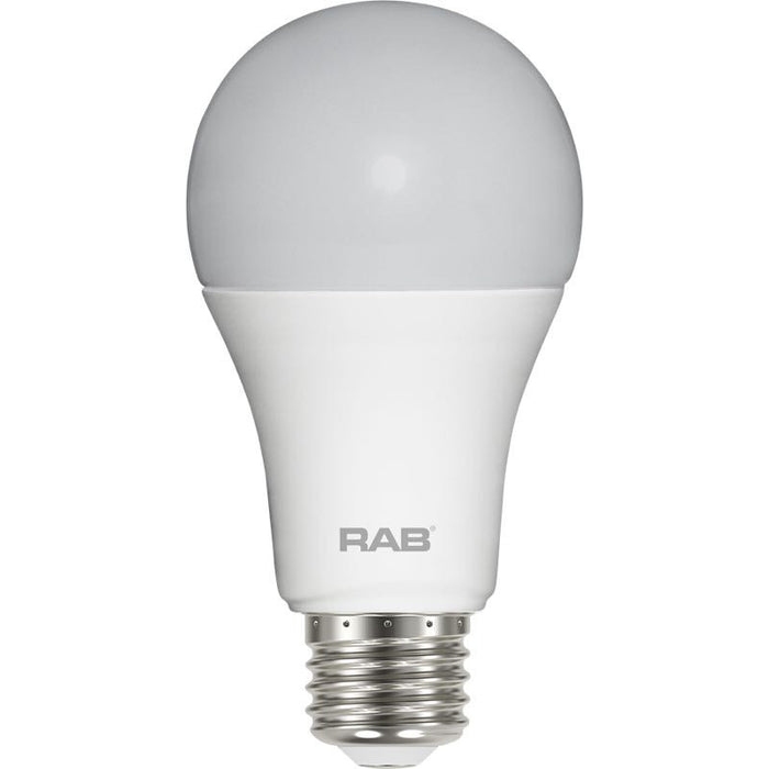 RAB 6 Watt A19 LED Lamp - 4000K - 480 Lumens - 40W Replacement - 120V