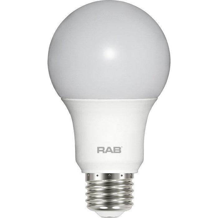 RAB 6 Watt Dimmable LED A19 Lamp - 3000K - 450 Lumens - 40W Replacement - 120V