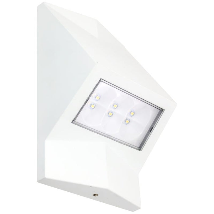 American Lighting 6 Watt LED White Wedge Wall Pack - 3000K - 463 Lumens - 120V