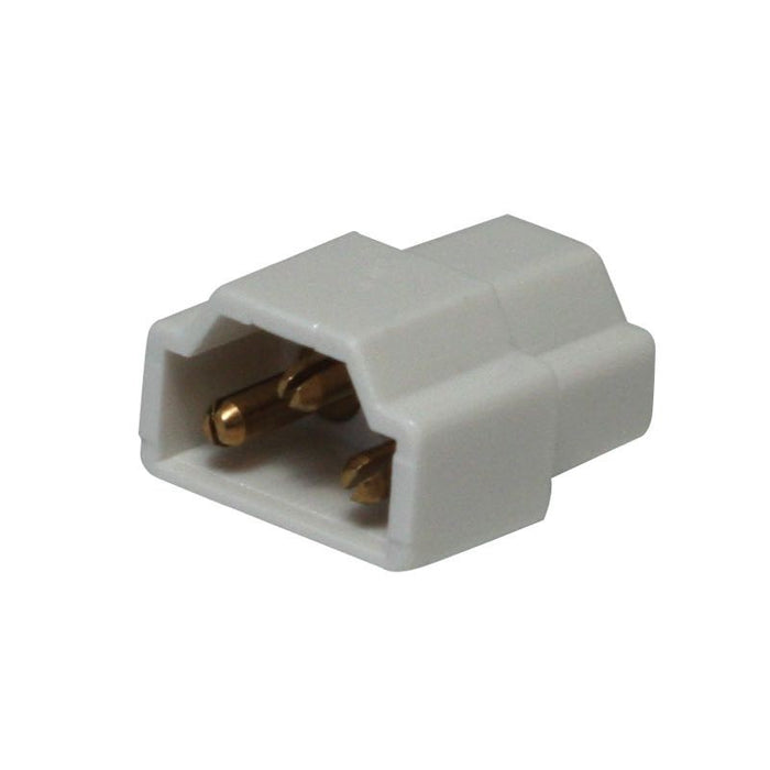 American Lighting White Inline Connector for End-to-End Connection