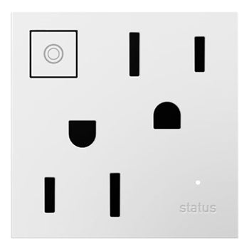 Adorne White Wi-Fi Ready On/Off Outlet