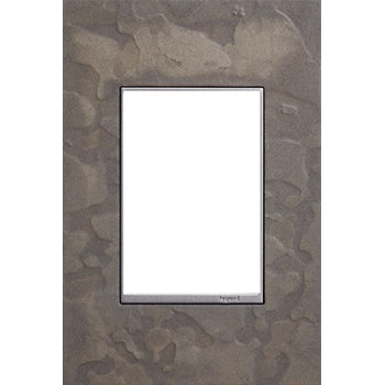 Adorne Burnished Steel Hubbardton Forge 1 Gang 3 Module Wall Plate