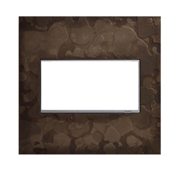 Adorne Dark Smoke Hubbardton Forge 2 Gang Wall Plate