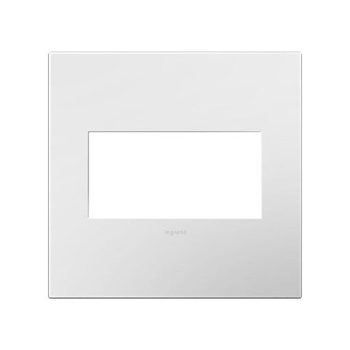 Adorne Gloss White on White Backplate 2 Gang Wall Plate