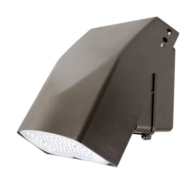 Slim Adjustable LED Wall Pack 27W, 120-277Vac, Ra70 5000K Type3, Dark Bronze