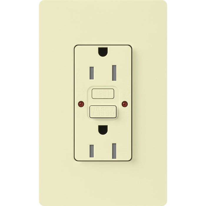 Lutron Claro 15A GFCI Receptacle - Tamper Resistant - Almond