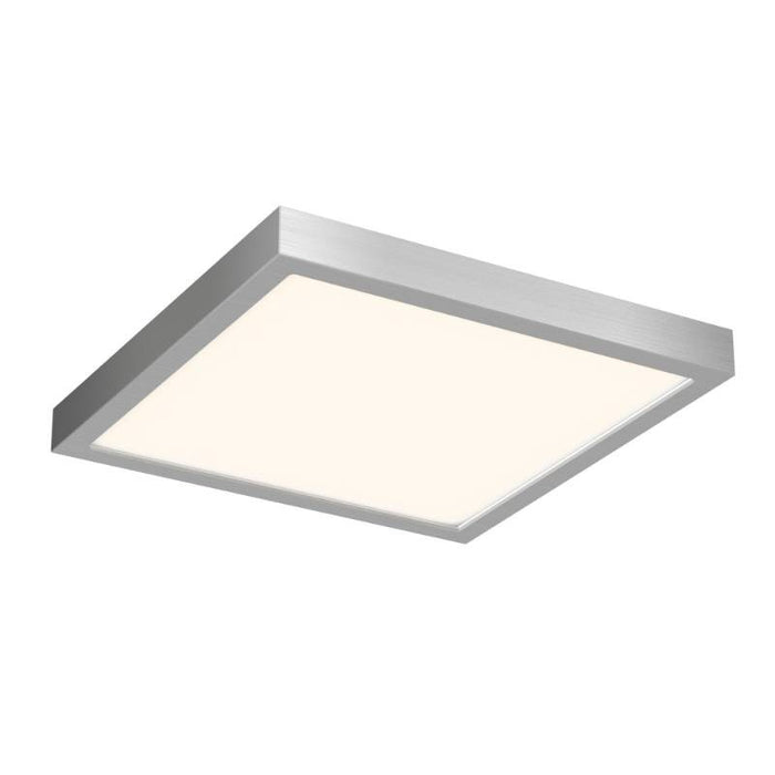 "DALS 10"" 17 Watt Satin Nickel LED Square Edge Lit Flush Mount - 3000K - 1,000 Lumens - 120V"