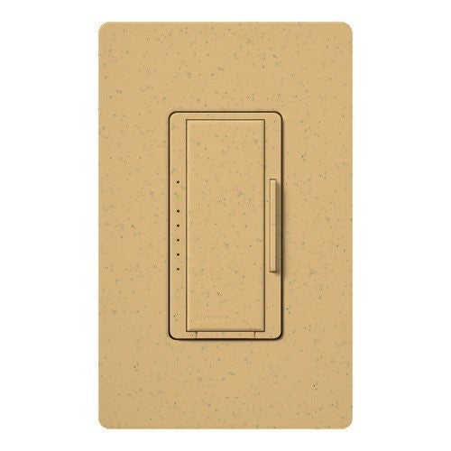 Lutron Maestro CL Pro All-in-One Dimmer - Phase Selectable - LED / CFL / Incandescent / Halogen - Goldstone