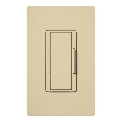 Lutron Maestro CL Pro All-in-One Dimmer - Phase Selectable - LED / CFL / Incandescent / Halogen - Ivory