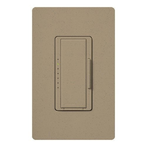 Lutron Maestro CL Pro All-in-One Dimmer - Phase Selectable - LED / CFL / Incandescent / Halogen - Mocha Stone