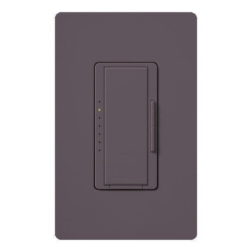 Lutron Maestro CL Pro All-in-One Dimmer - Phase Selectable - LED / CFL / Incandescent / Halogen - Plum