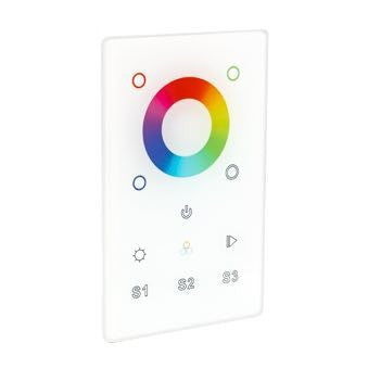 Trulux Wall Mount DMX RGB/RGB+WW One Zone Touch Control - 12-24V DC - White
