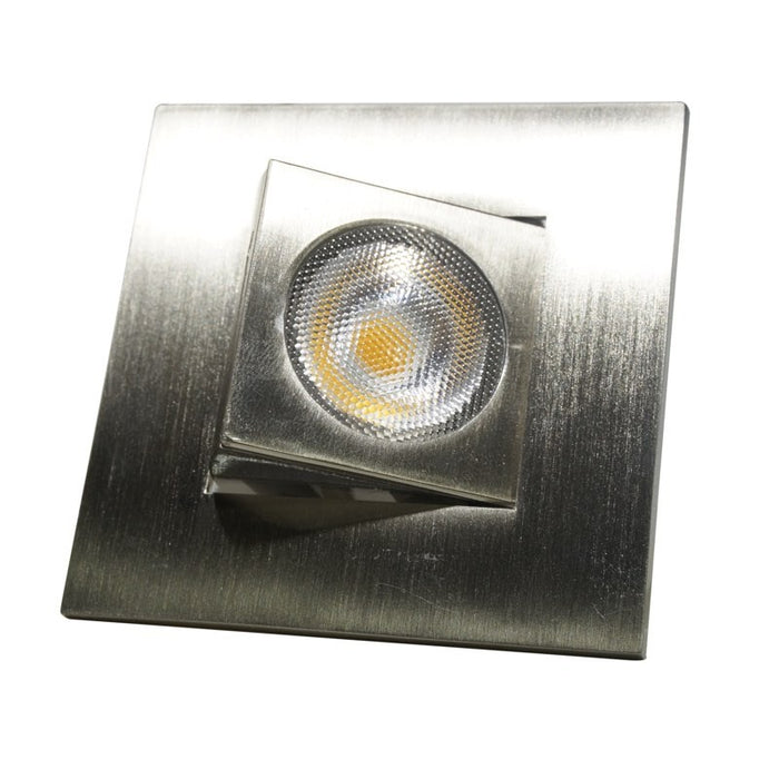 "Nicor 9 Watt 2"" Adjustable Square LED Downlight - 30° Narrow Optic - Nickel - 3000K - 674 Lumens - 120V"