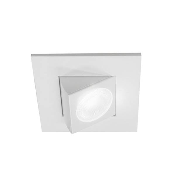 "Nicor 9 Watt 2"" Adjustable Square LED Downlight - 30° Narrow Optic - White - 4000K - 771 Lumens - 120V"