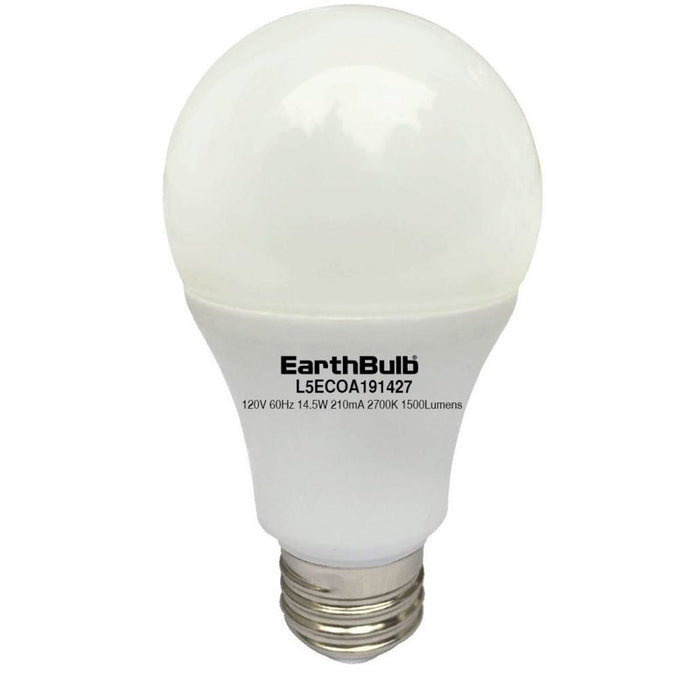 EarthTronics 9.5 Watt LED A19 - 2700K - 800 Lumens - 120V
