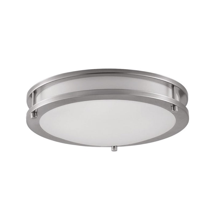 "Euri 16 Watt 12"" Round LED Ceiling Light - 3000K - 1,260 Lumens - 120V - Brushed Nickel"