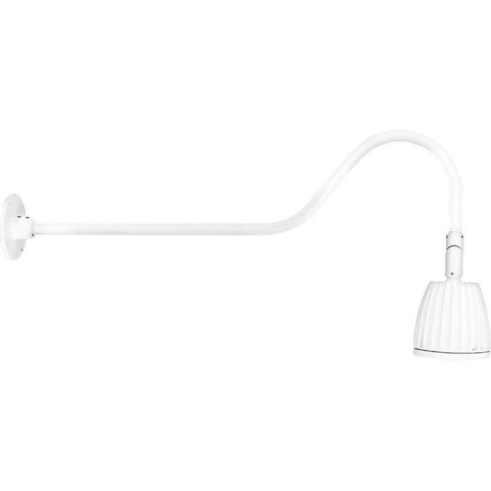 "RAB 13 Watt LED Gooseneck with 35"" Goose Arm - 3000K - 606 Lumens - 120-277V - White"