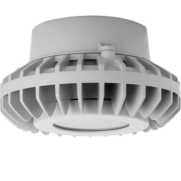 RAB 80 Watt LED HAZ Vaporproof - Frosted Lens - No Guard - Pendant Mount - 5000K - 6,768 Lumens - 120-277V - Gray
